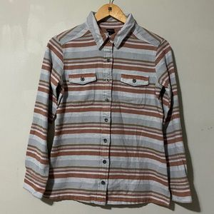 PATAGONIA Striped Fjord Women's Flannel Shirt sz 2